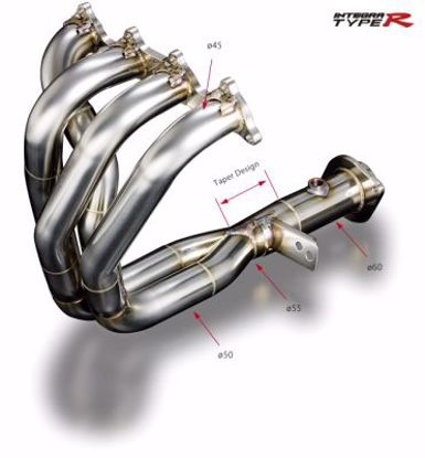 Picture of TODA Racing 4-2-1 Exhaust Manifold B Series 2 5 Collector 96 Spec