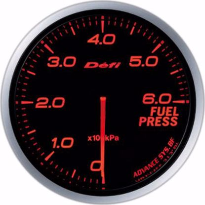 Picture of Defi Advance BF Fuel Pressure Gauge 60mm AmberRed Illumination