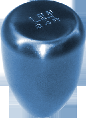 Picture of Blox Original Series Torch Blue Weighted Gearknob 450gms 5/6 Speed