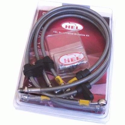 Picture of Hel 4pc Braided Stainless Steel Brakeline Kit Prelude 92 to 01