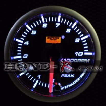 Picture of Motor Meter Racing Rev Counter Gauge 0-10,000rpm 52mm Amber/White
